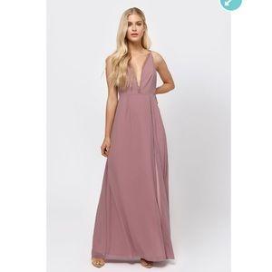 TOBI mauve full length dress
